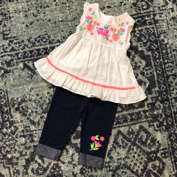 Cute floral outfit size 3t EUC!